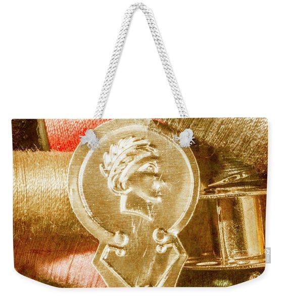 Pin And Vintage Stitch Weekender Tote Bag