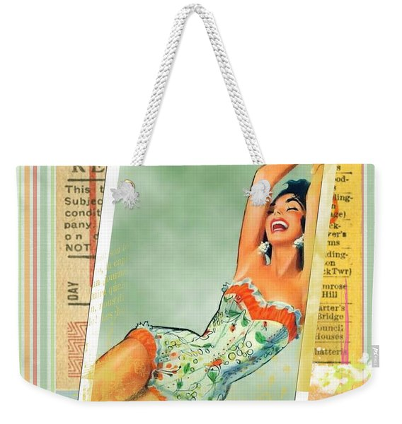 Pin Up Girl Square Weekender Tote Bag