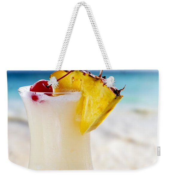 Pina Colada Cocktail On The Beach Weekender Tote Bag