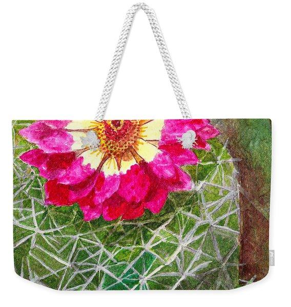 Pincushion Cactus Weekender Tote Bag