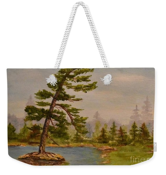 Pine Bent Over Time Weekender Tote Bag