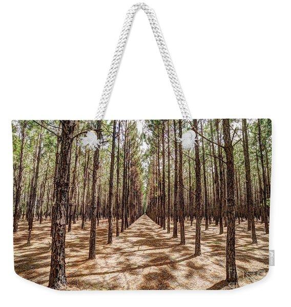 Pine Plantation Wide Color Weekender Tote Bag