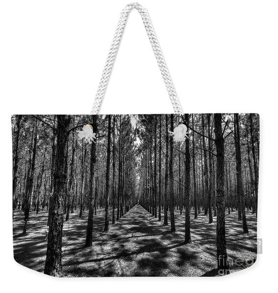 Pine Plantation Wide Weekender Tote Bag