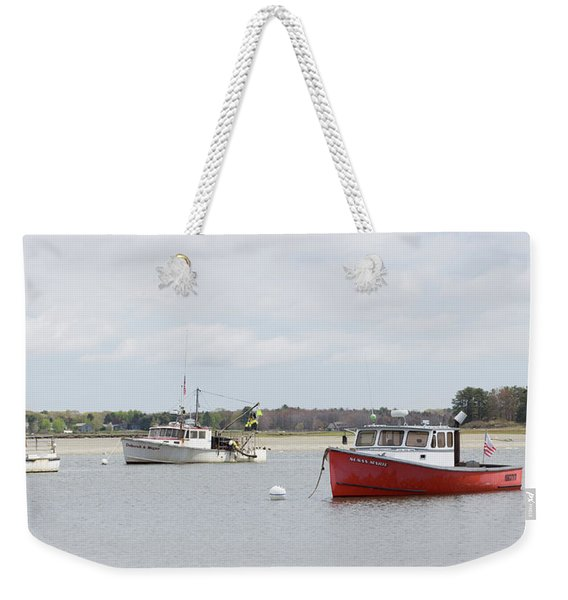 Pine Point Boats Weekender Tote Bag