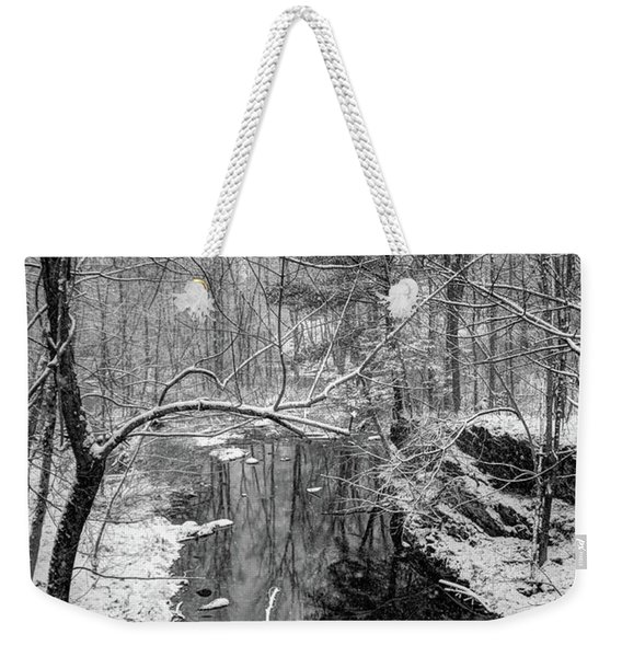 Pine Reflection On The Sheepscot Weekender Tote Bag