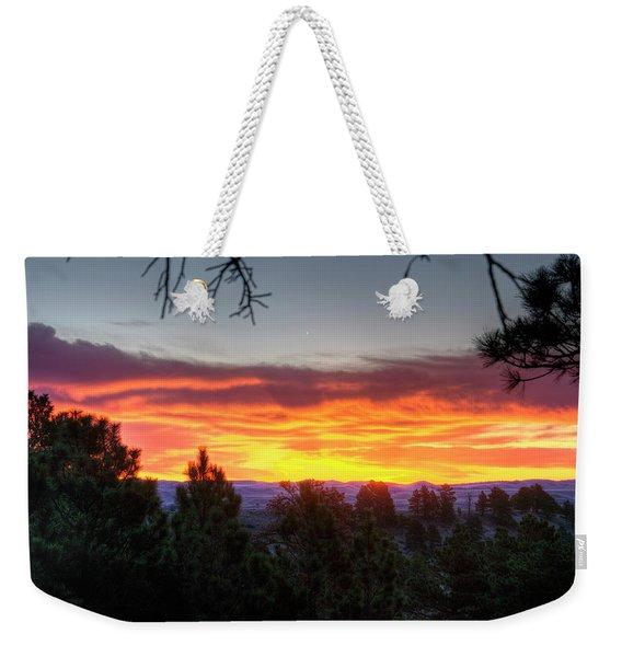 Pine Sunrise Weekender Tote Bag
