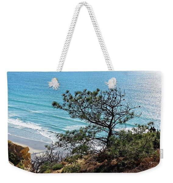 Pine Tree On Coast Weekender Tote Bag