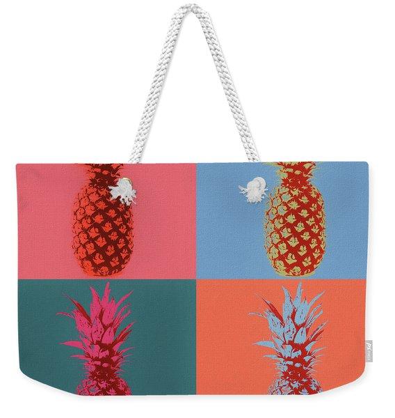 Pineapple Pop Art Weekender Tote Bag