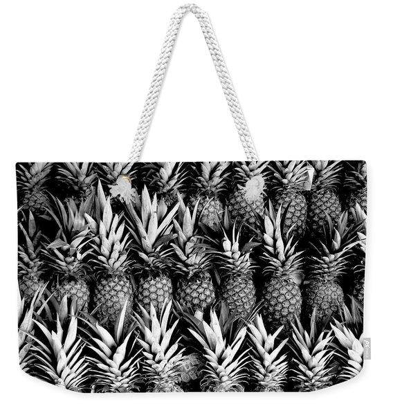 Pineapples In B/w Weekender Tote Bag