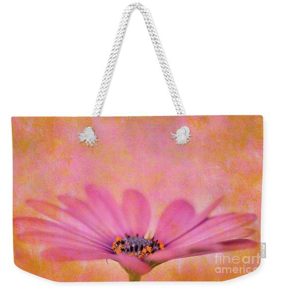 Pink African Daisy Weekender Tote Bag
