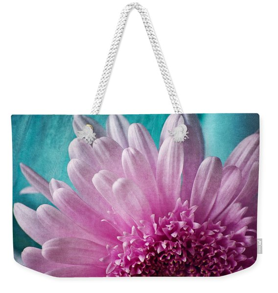 Pink And Aqua Weekender Tote Bag