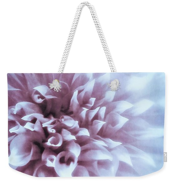 Pink And Blue Dahlia Weekender Tote Bag