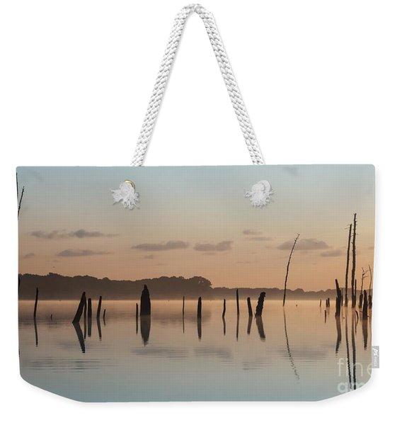 Pink And Blue Skies Weekender Tote Bag