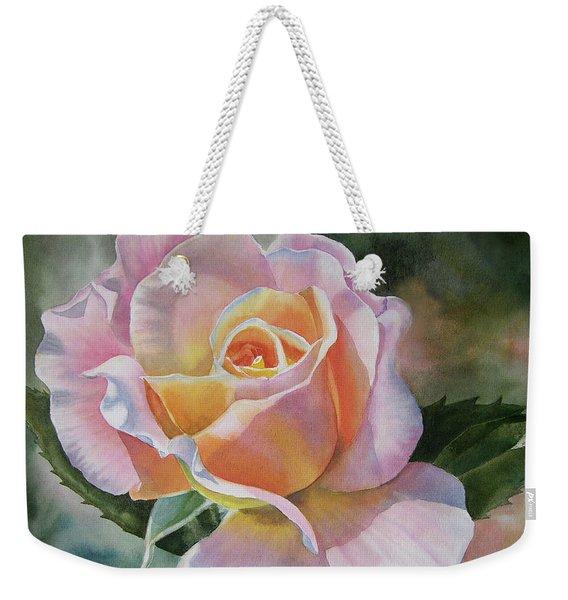 Pink And Peach Rose Bud Weekender Tote Bag