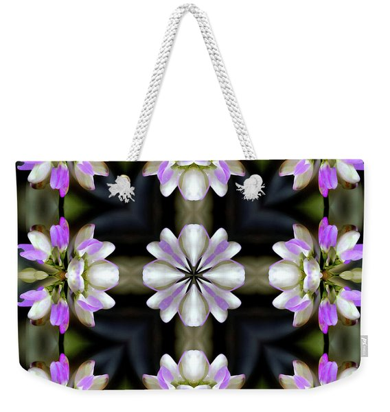 Pink And White Flowers Abstract Weekender Tote Bag