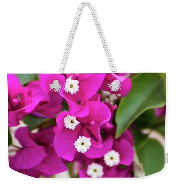 Pink And White Flowers Weekender Tote Bag