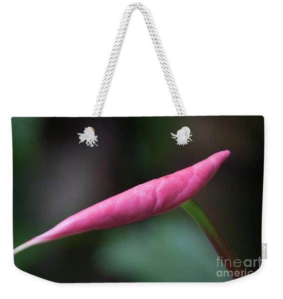 Pink Bud Weekender Tote Bag