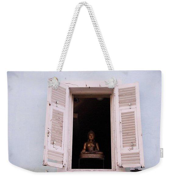 Pink Buddha Weekender Tote Bag
