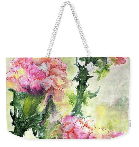 Pink Carnations Weekender Tote Bag