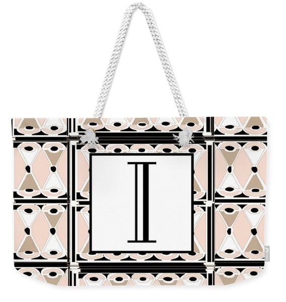 Pink Champagne Deco Monogram  I Weekender Tote Bag