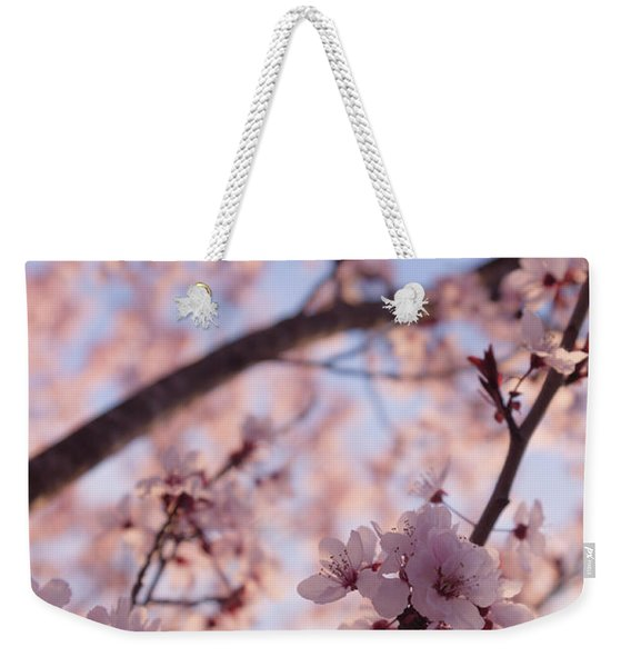 Pink Cherry Blossoms Weekender Tote Bag