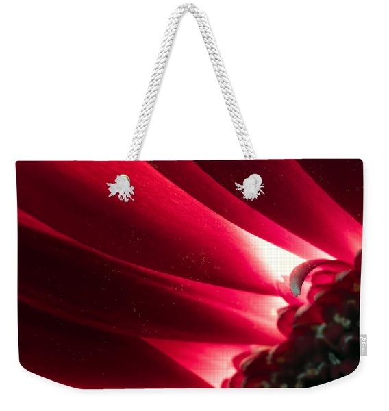 Pink Chrysanthemum Flower Petals  In Macro Canvas Close-up Weekender Tote Bag