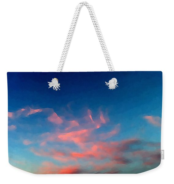 Pink Clouds Abstract Weekender Tote Bag