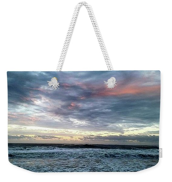 Pink Clouds At Dawn Weekender Tote Bag