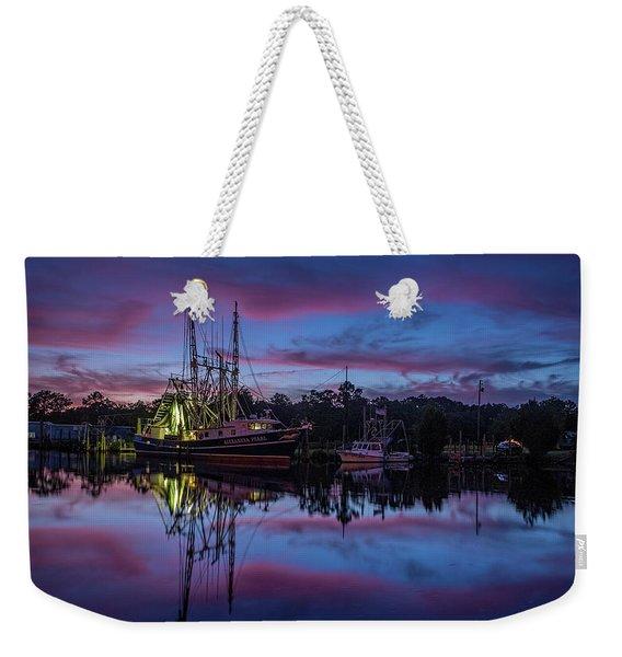 Pink Clouds Frame A Shrimp Boat Weekender Tote Bag