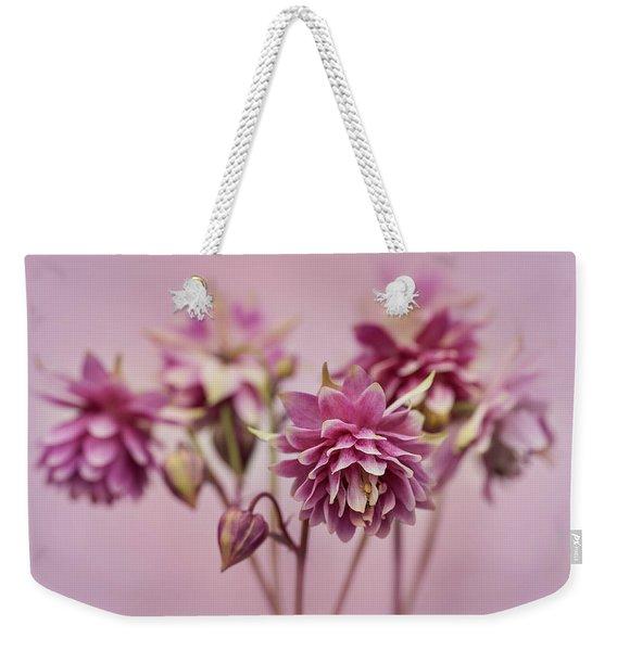 Pink Columbines Weekender Tote Bag