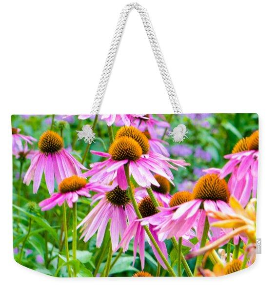 Pink Coneflower Weekender Tote Bag