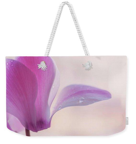 Pink Cyclamen Flower Weekender Tote Bag