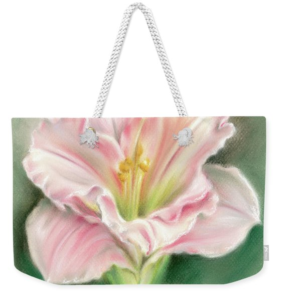 Pink Daylily And Green Buds Weekender Tote Bag