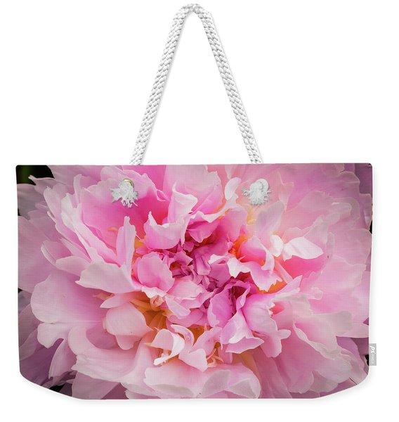 Pink Double Peony Weekender Tote Bag