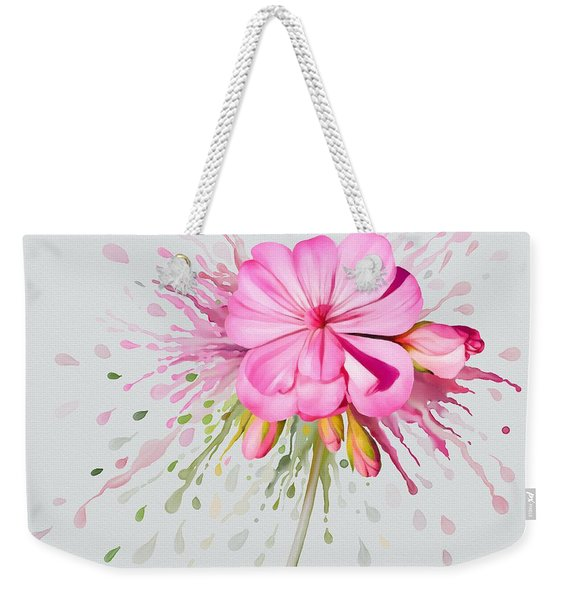 Pink Eruption Weekender Tote Bag