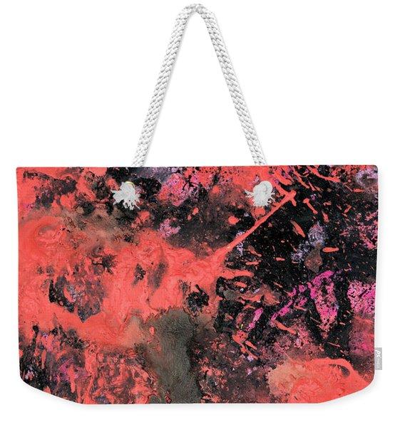 Pink Explosion Weekender Tote Bag