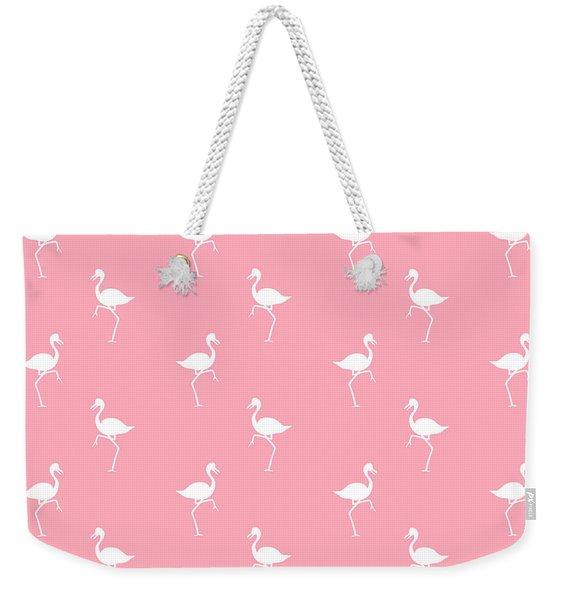 Pink Flamingos Pattern Weekender Tote Bag