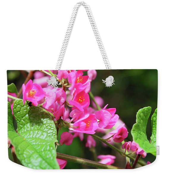 Pink Flowering Vine3 Weekender Tote Bag