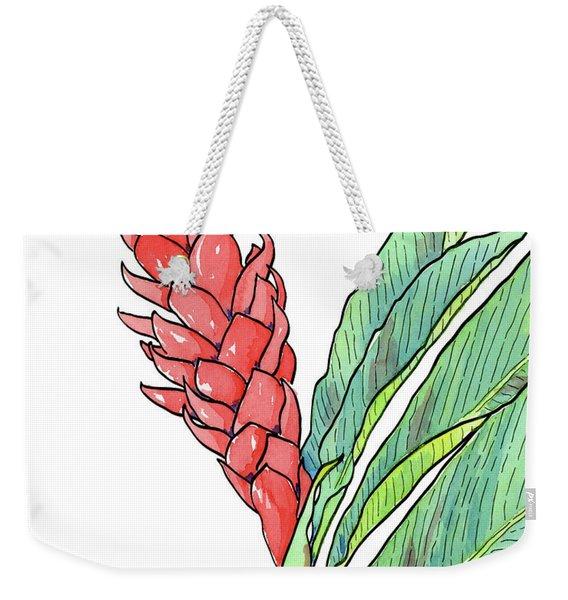 Pink Ginger Weekender Tote Bag