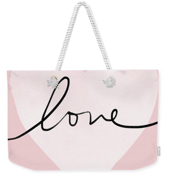 Pink Heart Love- Art By Linda Woods Weekender Tote Bag