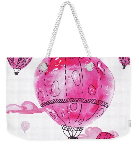 Pink Hot Air Baloons Weekender Tote Bag
