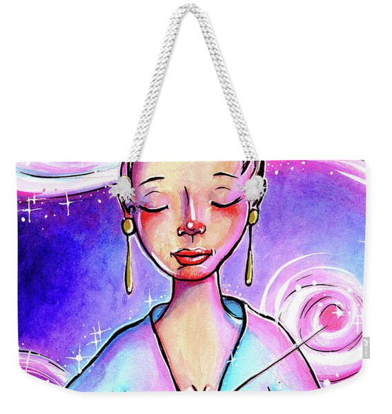 Pink Light Witch Weekender Tote Bag