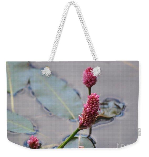 Pink Lily Pad Weekender Tote Bag