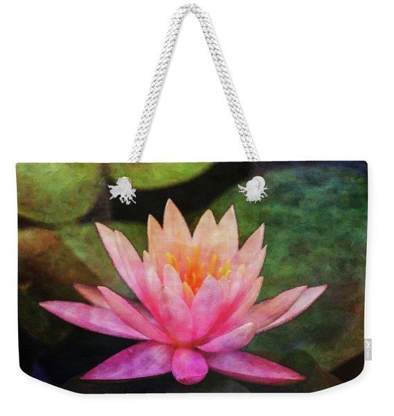 Pink Lotus 4134 Idp_2 Weekender Tote Bag