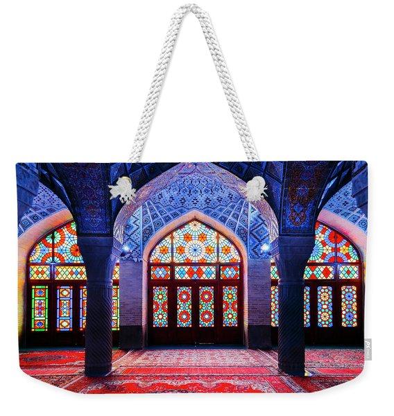 Pink Mosque, Iran Weekender Tote Bag