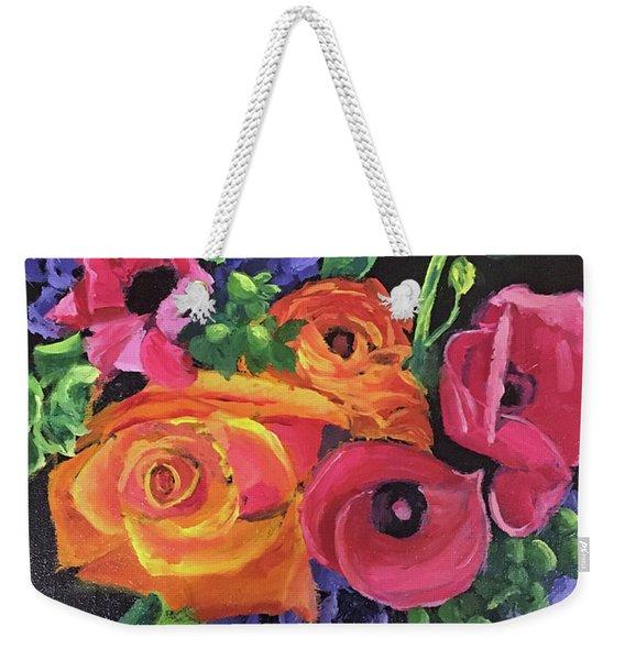 Pink On Black Weekender Tote Bag