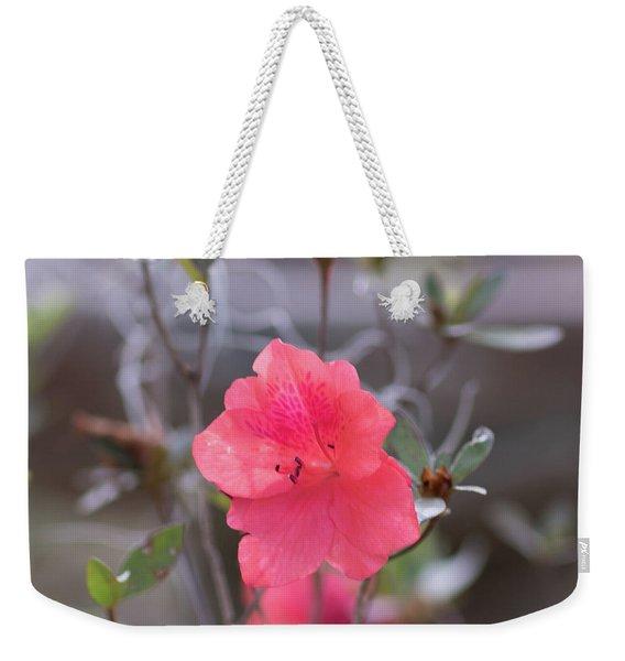 Pink Orange Flower Weekender Tote Bag