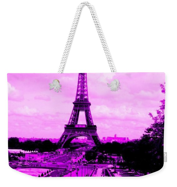 Pink Paris Weekender Tote Bag
