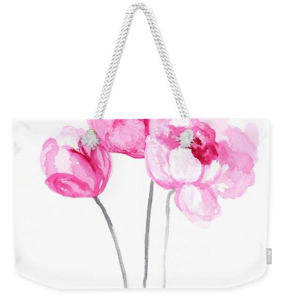 Pink Peony Painting 3 Weekender Tote Bag