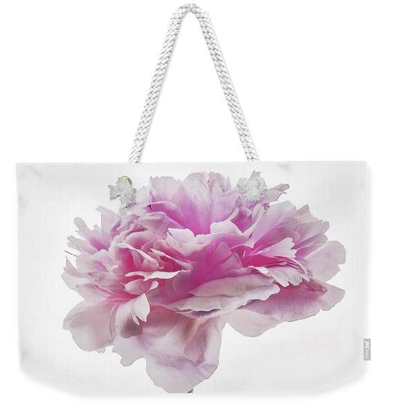 Weekender Tote Bag featuring the photograph Pink Peony by Scott Cordell